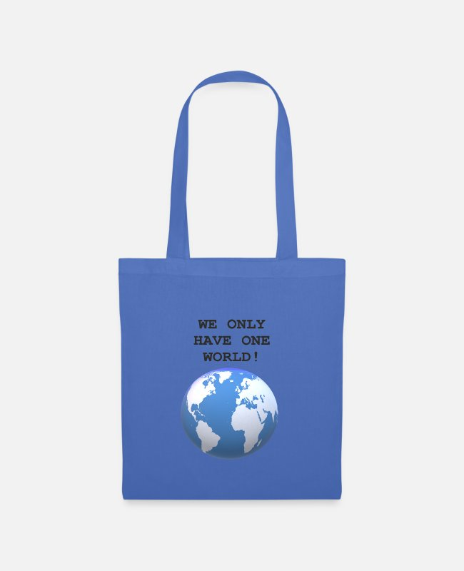 Nature Conservation Bags & Backpacks - One World, One Life! - Tote Bag light blue