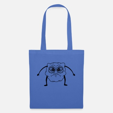 Unhappy unhappy little monster head eyes face tr - Tote Bag