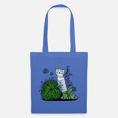 Cats And Dogs Collection Cat in the grass - Tote Bag