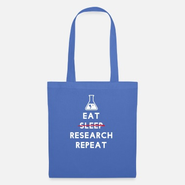 Elementary School Students Eat Research Repeat - physics teacher teacher - Tote Bag