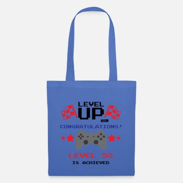 A Level Level Up Congratulations Level 50 Achieved 50 Gebu - Tote Bag