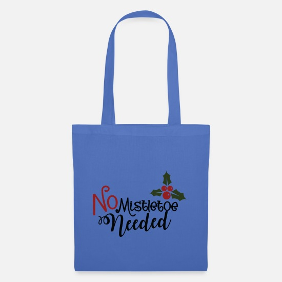 Christmas Bags & Backpacks - No mistletoe necessary, Christmas - Tote Bag light blue