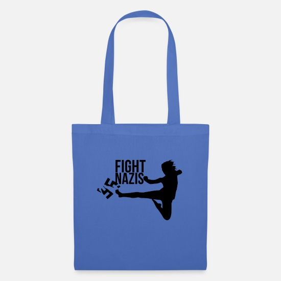 Politics Bags & Backpacks - Fight Nazis! - Tote Bag light blue