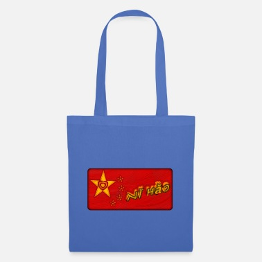 Ni Hao! - Chinese flag with Hello in pinyin - Tote Bag