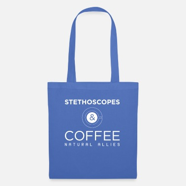 Light Funny Stethoscopes and Coffee Natural Allies print - Tote Bag