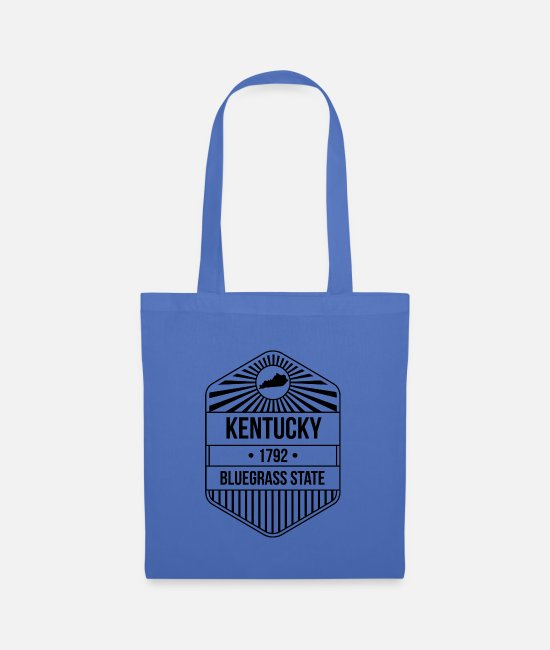 Kentucky Bags & Backpacks - Kentucky State Motto design - Bluegrass State - Tote Bag light blue