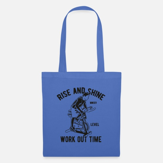 2019 Bags & Backpacks - Rise and Shine Work Out Time - Tote Bag light blue