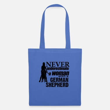 Woman Woman with a GSD - Tote Bag