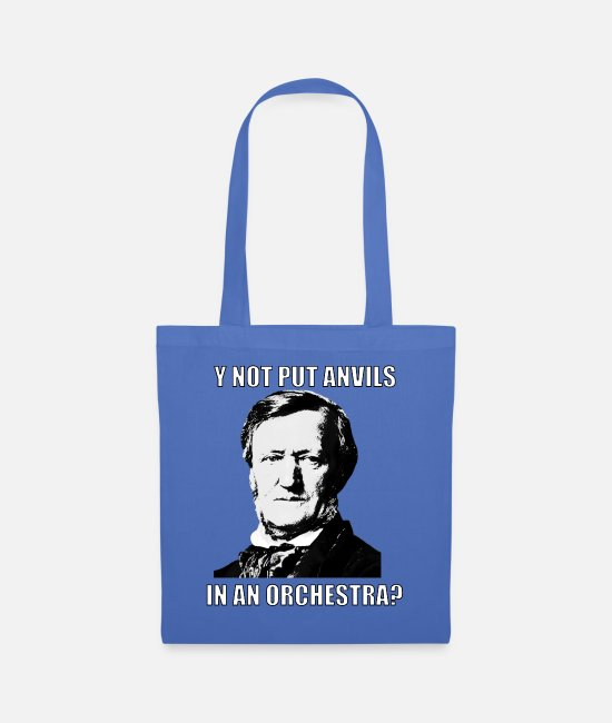 "Composer Bags & Backpacks - Classical Music Meme Wagner ""Put Anvils"" - Tote Bag light blue"