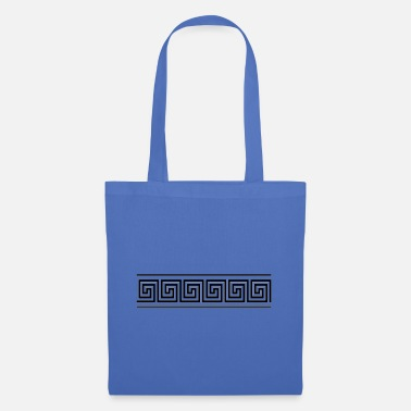 Athens greek border black - Tote Bag