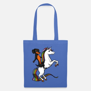 Wiener Dog Riding Unicorn Dachshund Wiener Dog Riding Unicorn - Tote Bag
