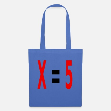 Variable Not Found x equals 5 v2 black - Tote Bag