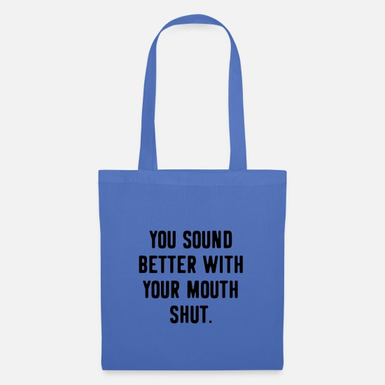 Gift Idea Bags & Backpacks - Provocation provocative Funny saying - Tote Bag light blue