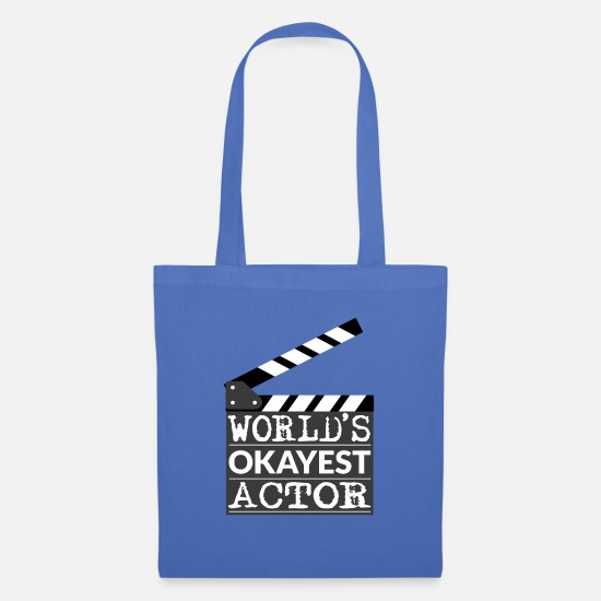 Hollywood Bags & Backpacks - Funny Actor Gift - World's Okayest Actor - Tote Bag light blue