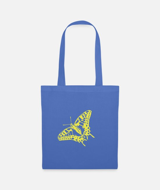 Nature Bags & Backpacks - Great butterfly in strong colors - Tote Bag light blue