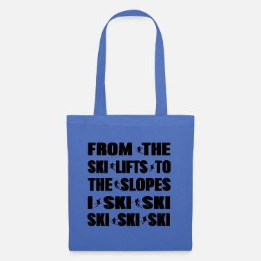 Snowmobile Ski skiing Ice skating Snow winter Gift idea - Tote Bag