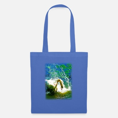 Art gxp swan in action vector art - Tote Bag