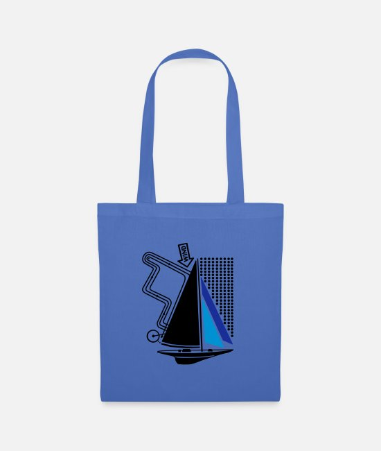 Water Bags & Backpacks - technical sailing yacht no.1 the standard - Tote Bag light blue