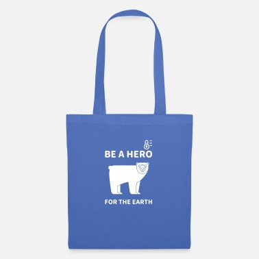 Be A Hero for The Earth Clima dell'orso polare - Borsa di stoffa