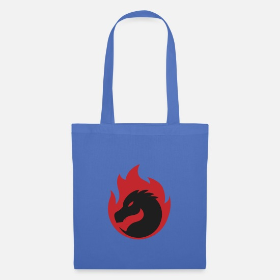 Tribal Dragon Bags & Backpacks - dragon - Tote Bag light blue