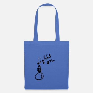 Black Light Lights on black - Tote Bag