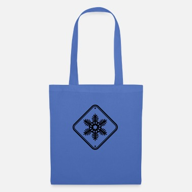 Frost Snow star warning sign - Tote Bag