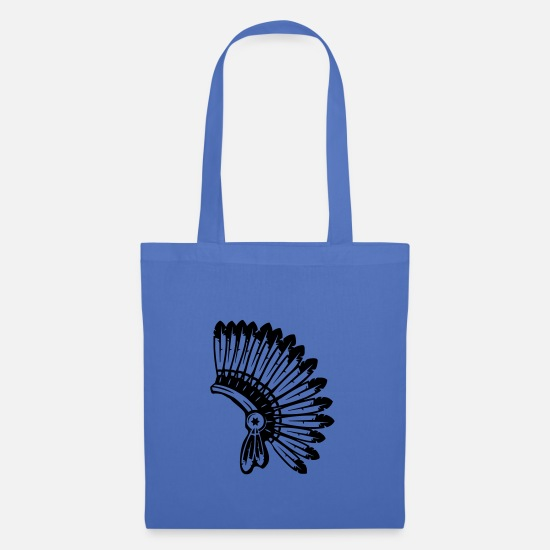 Navajo Bags & Backpacks - indian feathers - Tote Bag light blue