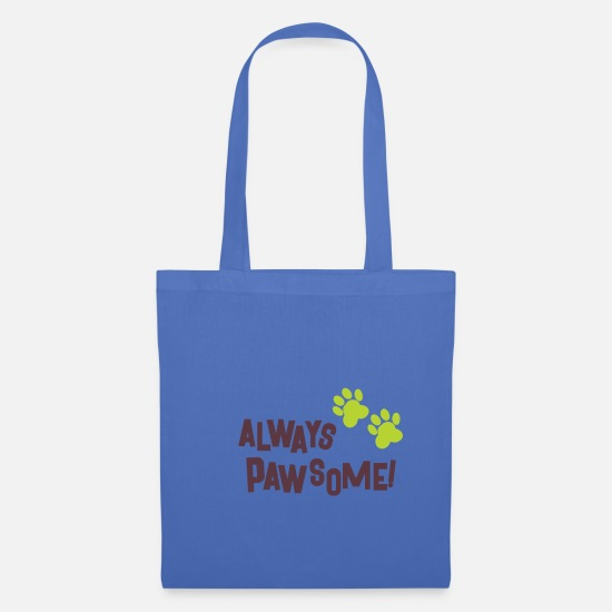 Dog Owner Bags & Backpacks - Dogs paws - Tote Bag light blue