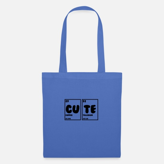 Chemistry Bags & Backpacks - Cute cute sweet chemistry - Tote Bag light blue