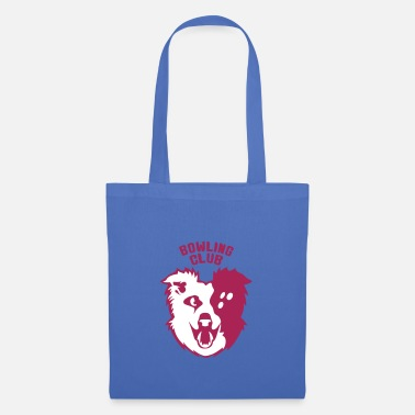 Dog Club bowling logo dog ball sport club 2802 - Tote Bag