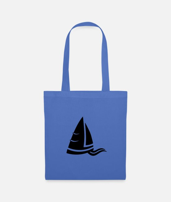 Water Bags & Backpacks - SeeAir sailboat logo black - Tote Bag light blue