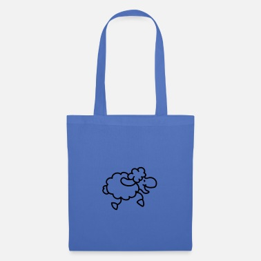 Black And White Collection Sweet little happy sheep - Tote Bag