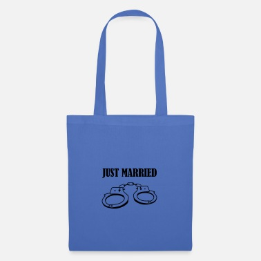 Girlfriend handcuff just married - Tote Bag