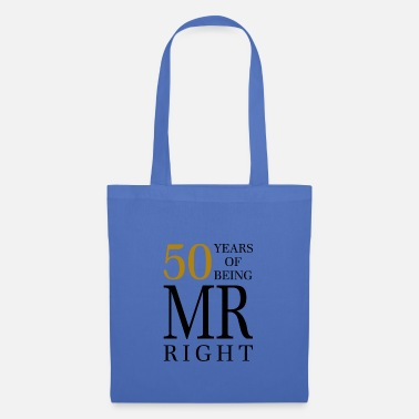 Noel birthday 50 years of being mr always right gift - Tote Bag
