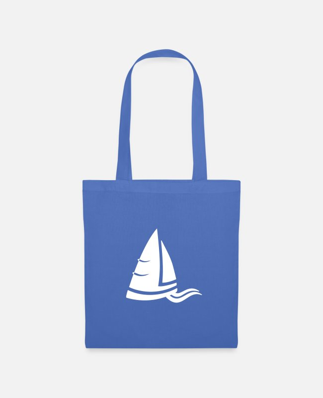 Water Bags & Backpacks - SeeLuft sailboat white - Tote Bag light blue