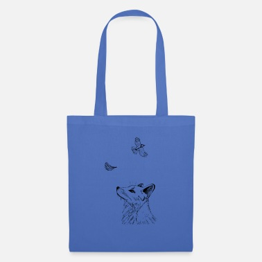 Fox with bird - Tote Bag