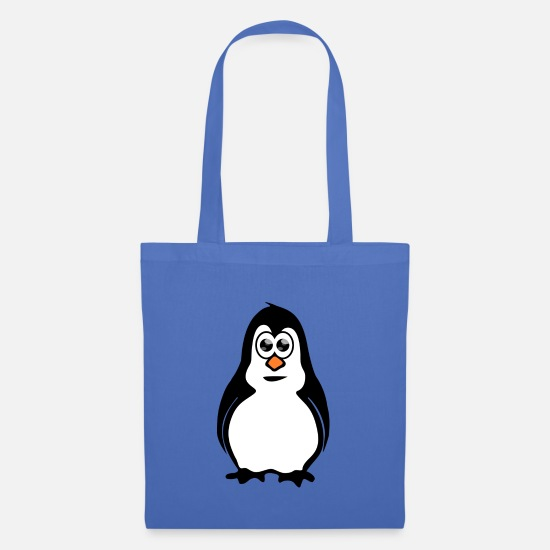 Ice Floe Bags & Backpacks - Penguin with googly eyes - Tote Bag light blue