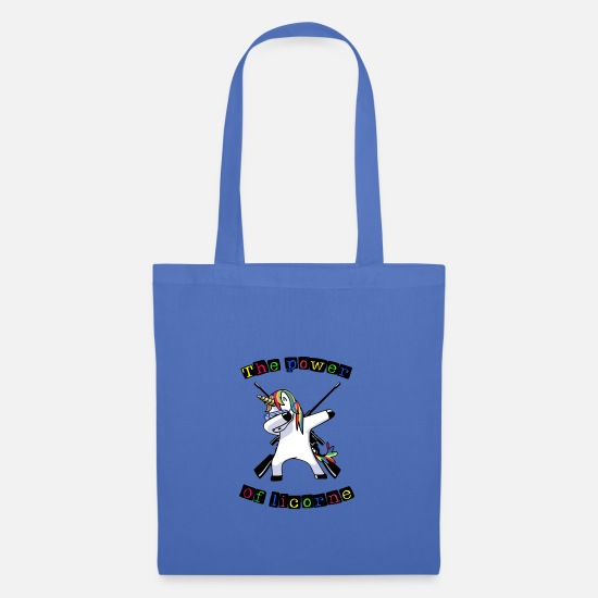 Power Ballads Bags & Backpacks - the power of unicorn - Tote Bag light blue