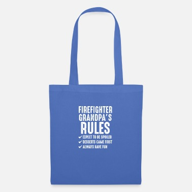 Firefighter Grandpa s Rules - Tote Bag