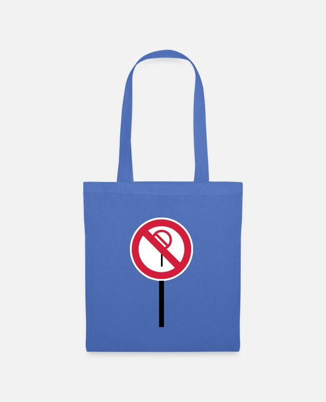 "Red Bags & Backpacks - Sign ""Prohibitions prohibited"" - Tote Bag light blue"
