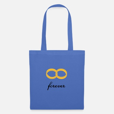 Marriage Infinity Shape wedding rings forever - Tote Bag
