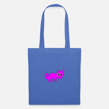 The pink Cat smiling - Nazca style - Tote Bag