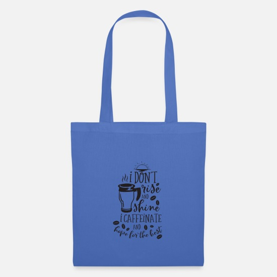 Mother's Day Bags & Backpacks - Sarcasm for morning muffle - Tote Bag light blue