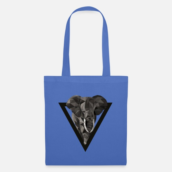 Gift Idea Bags & Backpacks - Elephant Triangle Style - Tote Bag light blue