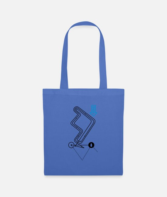 Sail Boat Bags & Backpacks - Regatta course - Tote Bag light blue
