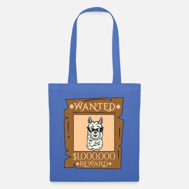 Lama Wanted - Reward the Cool Lama - Llama - Tote Bag