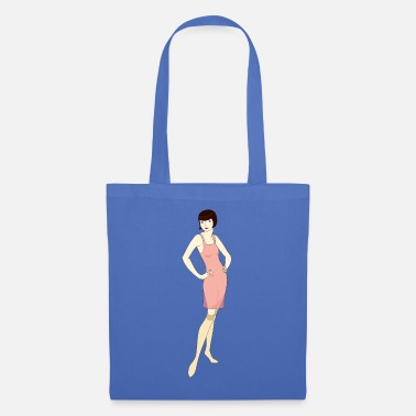 Paper Underwear Vintage flapper woman in lingerie - Tote Bag