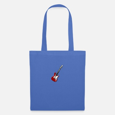Rockabilly Guitar Rock Icon - Electric Guitar Icon Shirt Design - Tote Bag