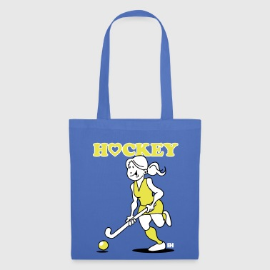 J'adore le hockey sur gazon. Une fille de hockey. - Tote Bag