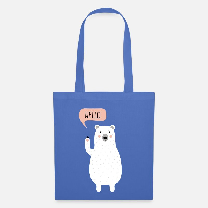 Hipster Bags & Backpacks - Cute Winter Polar Bear Illustration  - Tote Bag light blue